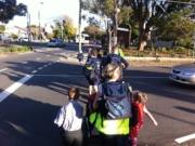 St Monica's Primary School walking route (Primrose St)